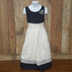 Chelsea's Corner size 8 Navy and White dress